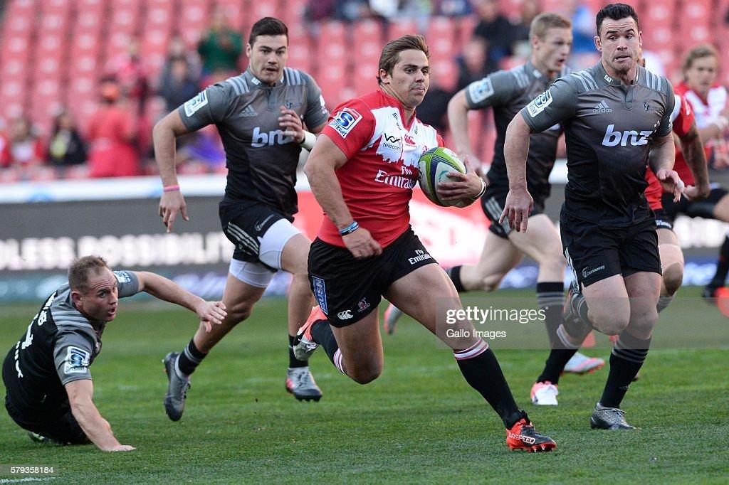 Super Rugby Quarterfinal - Lions v Crusaders : News Photo