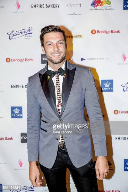 Rohan Maclaren arrives ahead of the Men With Breast Intentions 2017 Annual Dinner at Crown Palladium on June 2 2017 in Melbourne Australia