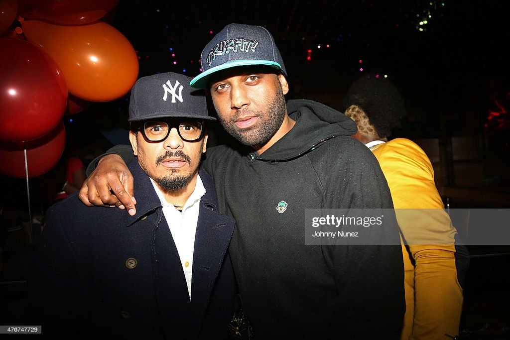 Rohan Marley and Yannick Brooks attend the 'Mastermind' Album Release Party at Greenhouse on March 4, 2014 in New York City.