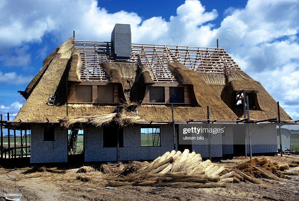 Bilder Mit Häusern neubau reetgedeckten häusern auf der insel sylt pictures getty