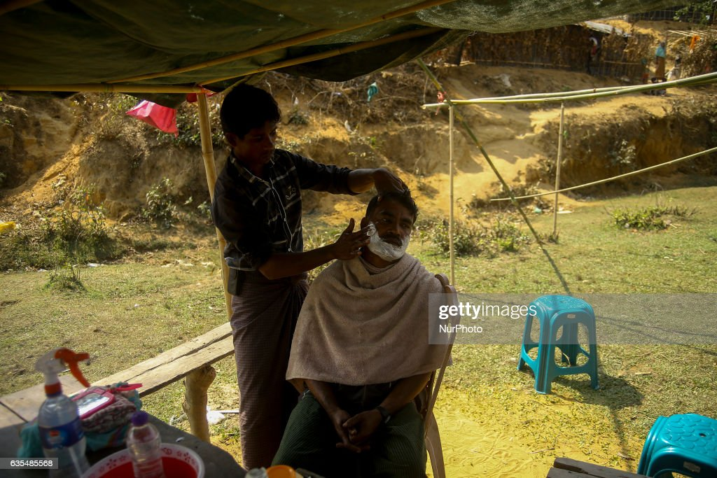 A Rohingya are seen at the makeshift Balu Khali Rohingya refugee camp on February 15, 2017 in Bangladesh. Almost 2000 thousand Rohingya family arrived at Balu Kali camp a month ago living in makeshift camp after conflict in Rakhine state started October last year flee to Bangladesh. More than 31 Non-goverment organisations (NGO) include Mapim and Kelab Putra 1 Malaysia from Malaysia, Indonesia, China, France, Germany, and United States joint forces bringing almost 2300 tonne of humanitarian goods include medicine, food, cooking oil and cloth were sending to ethnic minority Rohingya in Yangon and Teknaf.