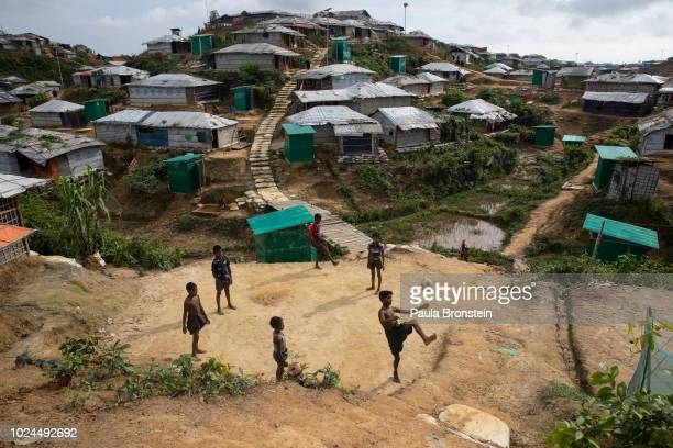 Rohingya boys play in Kutupalong camp August 27 2018 in Kutupalong Cox's Bazar Bangladesh UN investigators said on Monday that Myanmars army had...