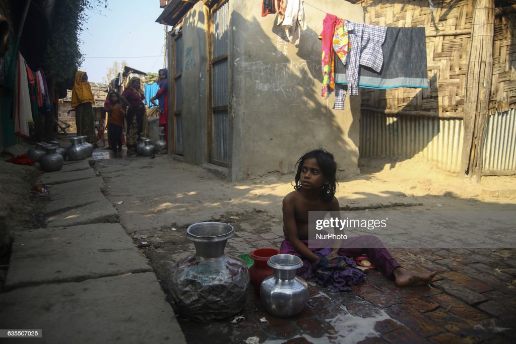 A Rohingya child is seen inside the makeshift Leda Rohingya refugee camp on February 15, 2017 in Bangladesh. Thousands of Rohingya living at makeshift camp after conflict in Rakhine state started October last year flee to Bangladesh. More than 31 Non-goverment organisations (NGO) include Mapim and Kelab Putra 1 Malaysia from Malaysia, Indonesia, China, France, Germany, and United States joint forces bringing almost 2300 tonne of humanitarian goods include medicine, food, cooking oil and cloth were sending to ethnic minority Rohingya in Yangon and Teknaf.
