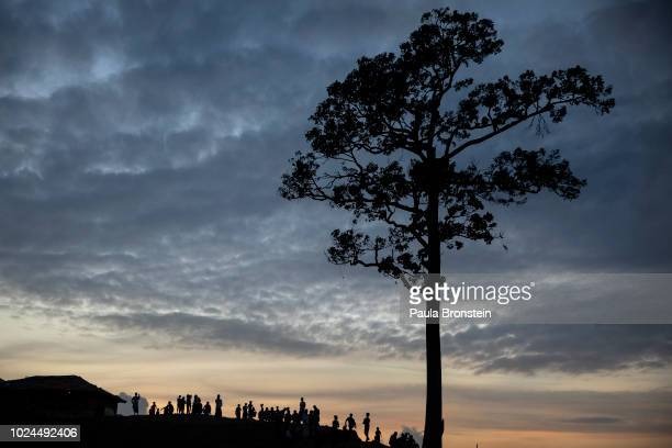 Rohingya gather at a tree in Kutupalong camp August 27 2018 in Kutupalong Cox's Bazar Bangladesh UN investigators said on Monday that Myanmars army...