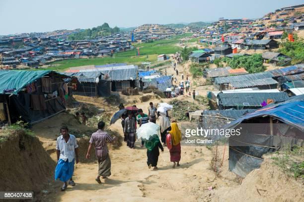 Rohingya housing at Jamtoli refugee camp