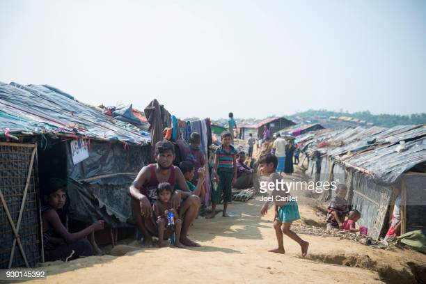rohingya life in bangladesh - refugee camp stock pictures, royalty-free photos & images