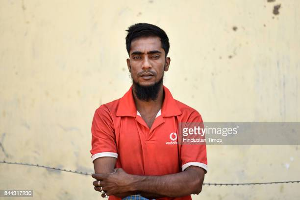 Rohingya Muslim Noor Qasim at Kanchan Kunj on September 6 2017 in New Delhi India He says his home was burnt and his sister and her husband were...