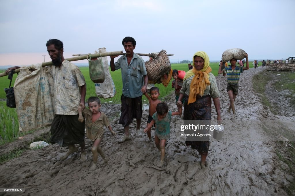 Rohingya people fled from oppression in Myanmar : News Photo