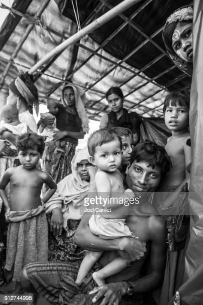 rohingya muslims in bangladesh - bangladesh photos stock photos and pictures