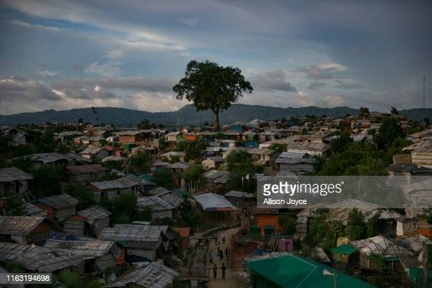 Rohingya refugee camp is seen on August 22, 2019 in Cox's Bazar, Bangladesh. A fresh push to repatriate Rohingya refugees to Myanmar appeared August...