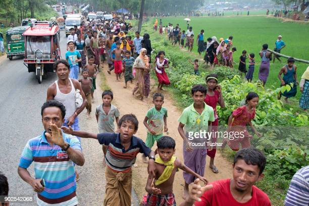 COX'S BAZAR UKHYA BANGLADESH Rohingya refugees are heart and soul trying to get reliefs giving by the social organization from Chittagong Though the...
