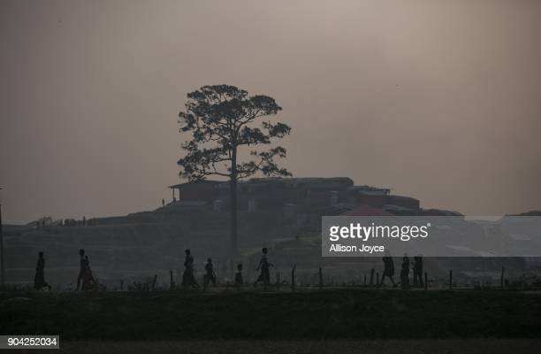 COX'S BAZAR BANGLADESH JANUARY 12 Rohingya refugees are seen in Balukhali camp on January 12 2018 in Cox's Bazar Bangladesh Over 650000 Rohingya have...