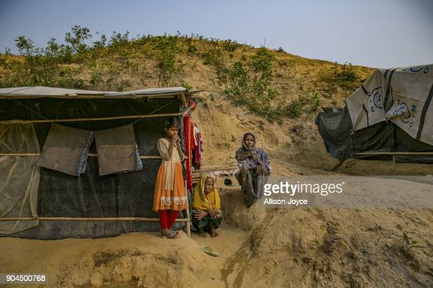 COX'S BAZAR BANGLADESH JANUARY 13 Rohingya refugees are seen in Balukhali camp on January 13 2018 in Cox's Bazar Bangladesh Over 650000 Rohingya have...