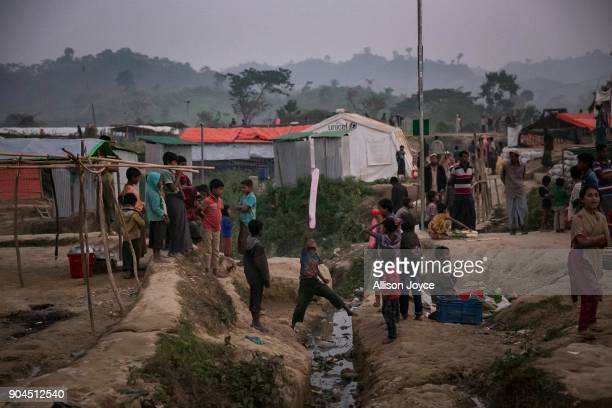 COX'S BAZAR BANGLADESH JANUARY 13 Rohingya refugees are seen in Uchiprang camp on January 13 2018 in Cox's Bazar Bangladesh Over 650000 Rohingya have...