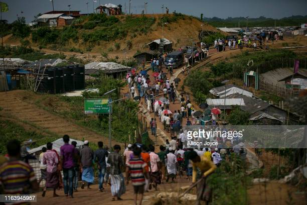 COX'S BAZAR BANGLADESH AUGUST 25 Rohingya refugees are seen on the second anniversary of the Rohingya crisis on August 25 2019 in Cox's Bazar...