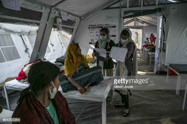 COX'S BAZAR BANGLADESH JANUARY 12 Rohingya refugees are treated by nurses at a Samaritan's Purse diphtheria clinic in Balukhali camp on January 12...