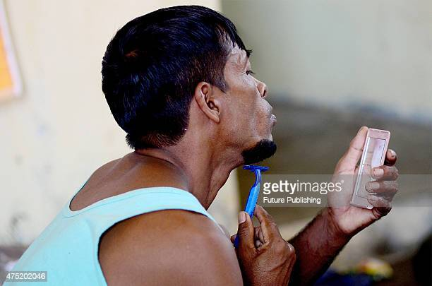 Rohingya refugees from Myanmar seen in a temporary shelter on May 29 2015 in Kuala Langsa Aceh Province Indonesia Delegates from 17 nations gathered...