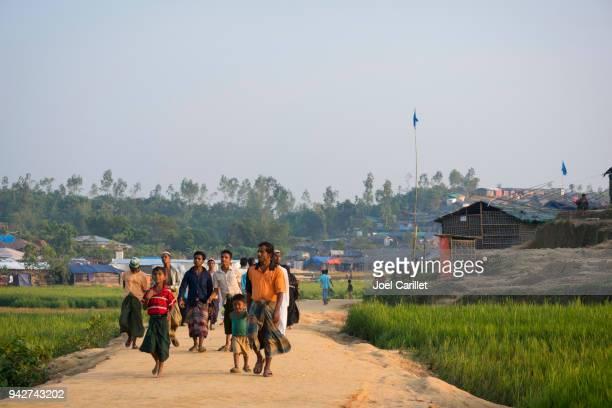 rohingya refugees in bangladesh - bangladesh stock pictures, royalty-free photos & images