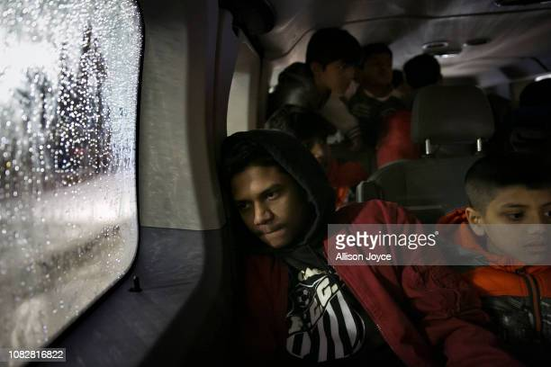 Rohingya soccer players travel back home after a game January 12 2019 in Chicago Illinois Chicago has one of the largest number of Rohingya refugees...