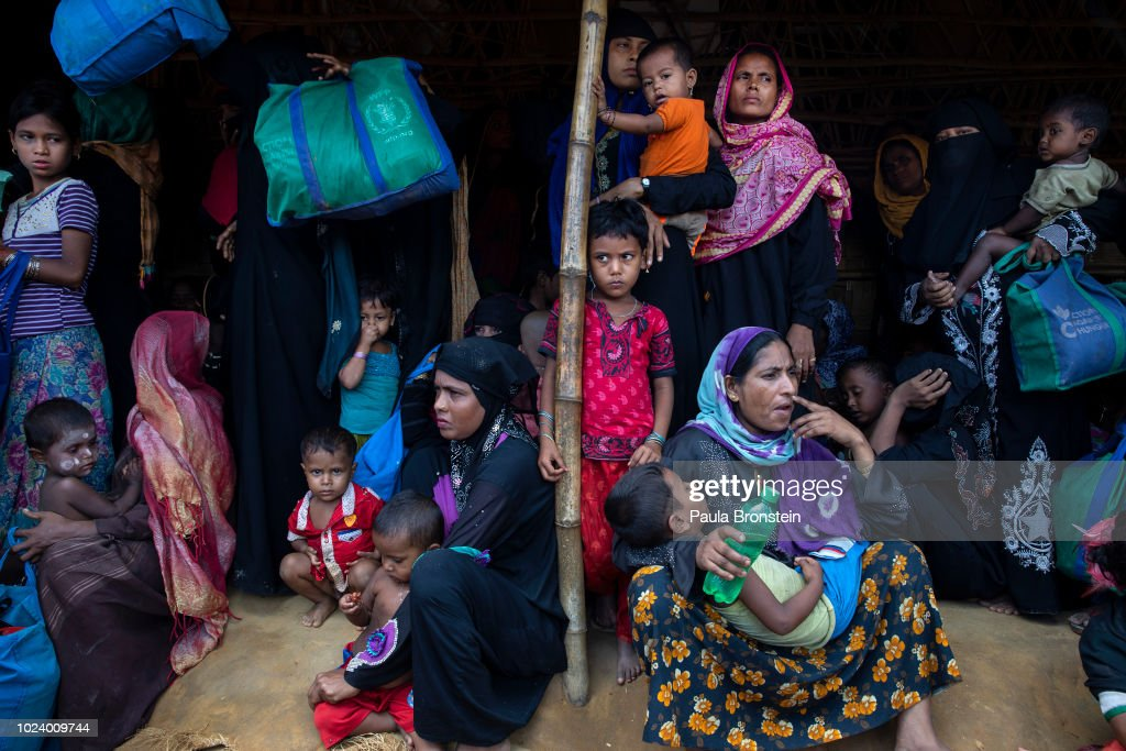 Rohingya Refugees Mark One Year Since The Crisis : News Photo