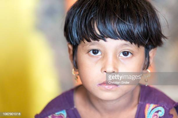 Kutupalong Ukhiya near Cox´s Bazar Bangladesh October 15 2018 Rohinya child in the camp during an educational event of an NGO Refugee camp of the...