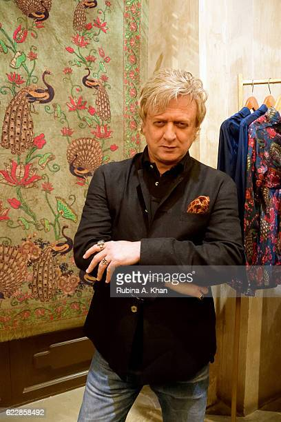 Rohit Bal at the launch of his first home collectibles and apparel line called HusnETaairaat at Good Earth on November 12 2016 in Mumbai India