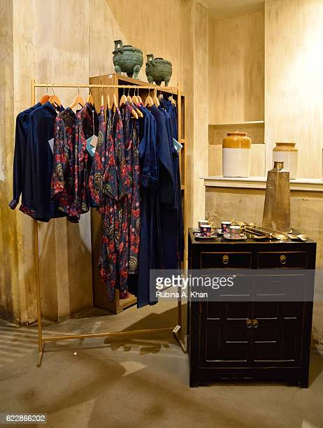 Rohit Bal's HusnETaairaat apparel and home collectibles line on display at Good Earth on November 12 2016 in Mumbai India