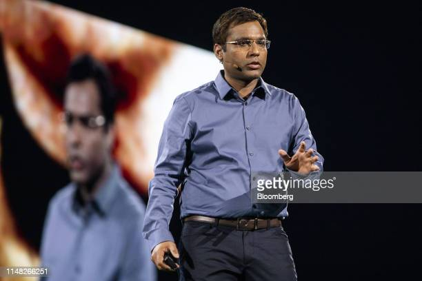 Rohit Prasad vice president and head scientist of Alexa artificial intelligence for Amazoncom Inc speaks during a Prime Air delivery drone reveal...