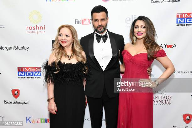 Rohit Roy Dr Rashmee Sharma and Mani Kamboj attend RAYWA Presents TIA at The Pierre Hotel on November 16 2018 in New York City
