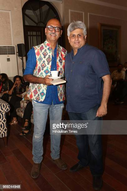 Rohit Sethi and Aman Vadehra during the launch of author Ruchi Vadehra's book Great Expectations at Bikaner House Pandara Road on May 11 2018 in New...