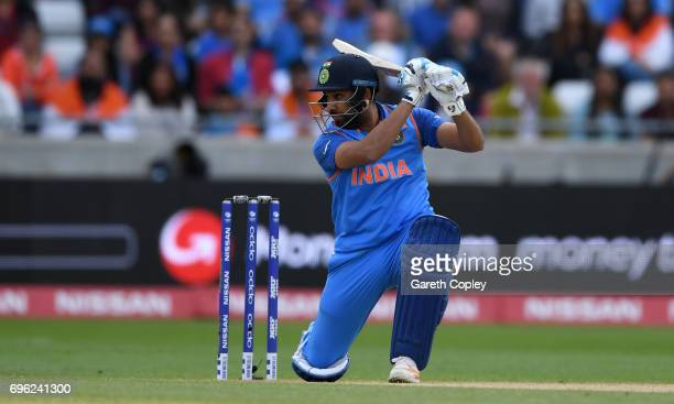 Rohit Sharma of India bats during the ICC Champions Trophy Semi Final between Bangladesh and India at Edgbaston on June 15 2017 in Birmingham England