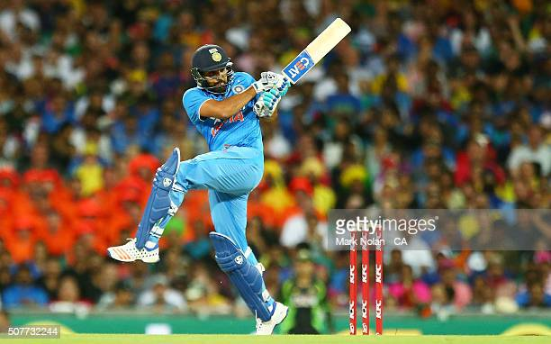 Rohit Sharma of India bats during the International Twenty20 match between Australia and India at Sydney Cricket Ground on January 31 2016 in Sydney...