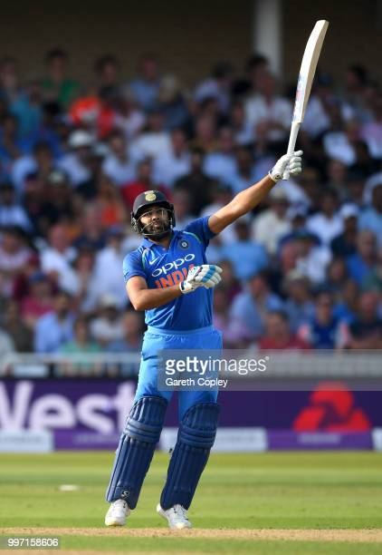 Rohit Sharma of India bats during the Royal London OneDay match between England and India at Trent Bridge on July 12 2018 in Nottingham England