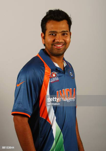 Rohit Sharma of India poses for a portrait prior to the ICC World Twenty20 at the Royal Garden Hotel on June 2 2009 in London England