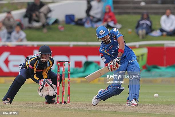 Rohit Sharma of the Mumbai Indians during the Karbonn Smart CLT20 match between Mumbai Indians and Yorkshire at Sahara Park Newlands on October 18...
