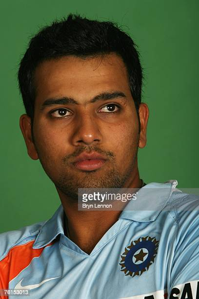 Rohit Sharma poses for a photograph during a photo call at the Marriott Hotel on August 17 2007 in Northampton England
