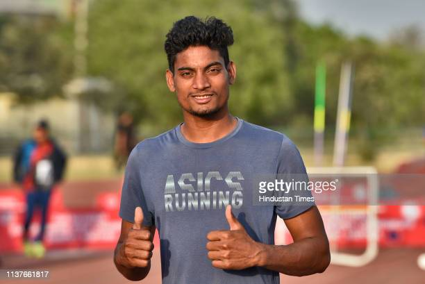 Rohit Yadav of Uttar Pradesh sets a new record with a throw of 8175 m in the preliminary round of the 2nd National Javelin Throw Open Championship at...