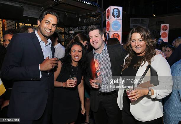 Rohith Reddy and guests attend GREY GOOSE Vodka Hosts The Inaugural Mic50 Awards at Marquee on June 18 2015 in New York City