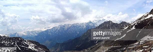 Rohtang Pass, panoromic view, Manali, India