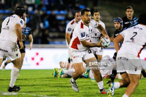 Roimata Hansell Pune of Oyonnax during the Pro D2 match between Massy and Oyonnax on November 9 2018 in Massy France