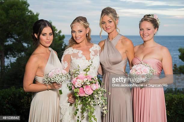 Roisin Galvin Wittstock and her witnesses attend the wedding party of Gareth Wittstock and Roisin Galvin on September 4 2015 in SaintJeanCapFerrat...