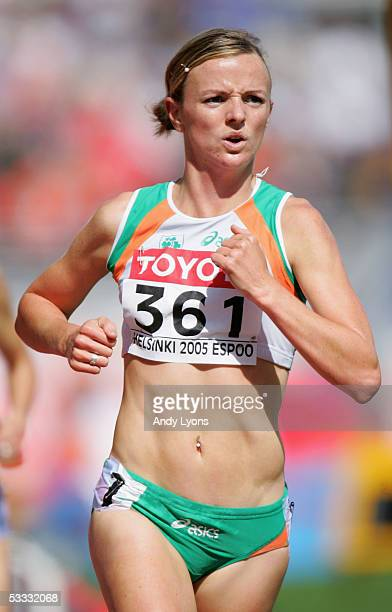 Roisin McGettigan of Ireland in action during the heats of the women's 3000 Metres Steeplechase at the 10th IAAF World Athletics Championships on...