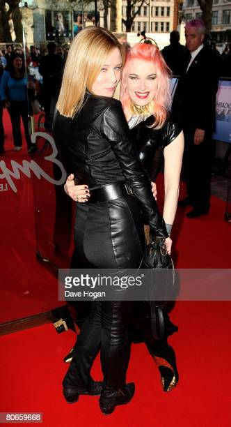 Roisin Murphy and Pam Hogg arrive at the UK premiere of 'Flashbacks of a Fool' at the Empire cinema Leicester Square on April 13 2008 in London...