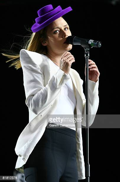 Roisin Murphy performs on the main stage during day 1 of the O2 Wireless Festival 2008 on July 3 2008 in London England