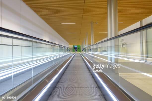 Roissy Charles de Gaulle airport Escalator France