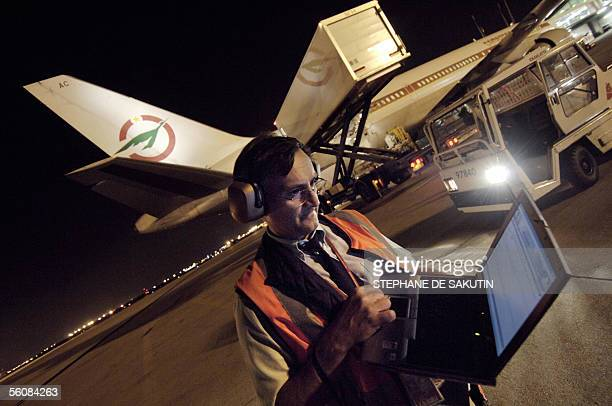 A file photo taken 23 August 2005 at Roissy airport near Paris shows Thierry Le Verrier technical operating inspector of France's civil aviation...
