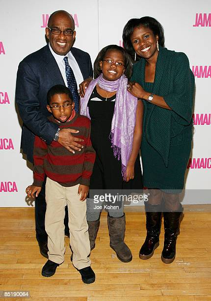 Roker and his wife Deborah Roberts pose for a photo with their children Leila and Nicholas Roker at the launch of First Ladies Tour series on We TV...