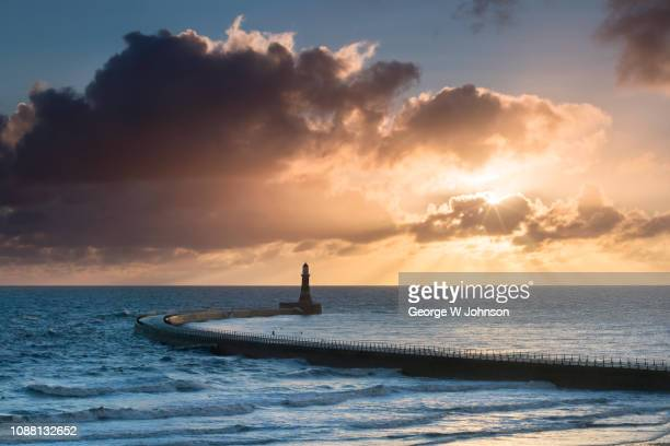 roker pier #3 - sunderland stock pictures, royalty-free photos & images