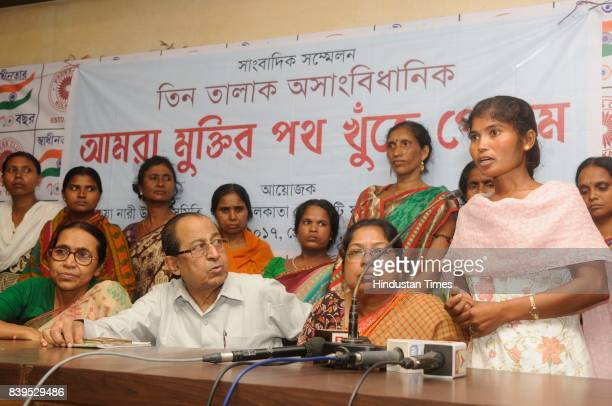 Rokeya Nari Unnayan Samity a NGO organised a press conference after Supreme Court verdict on Triple Talaq where more than 15 Triple Talaq Survivors...