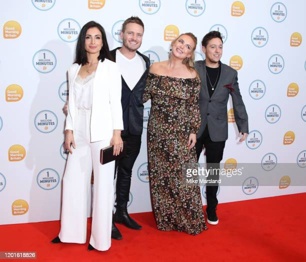 Rokhsaneh GhawamShahidi Matthew Wolfenden Amy Walsh and Ash Palmisciano attend the Good Morning Britain 1 Million Minutes Awards at Studio Works on...